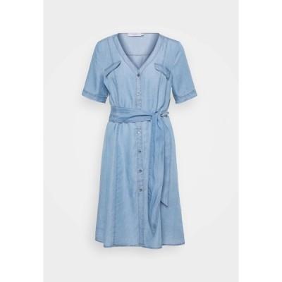 クリーム ワンピース レディース トップス AMIRA DRESS - Day dress - blue denim
