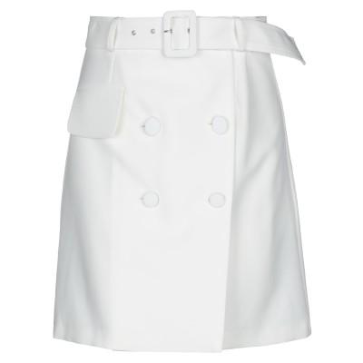 ACTUALEE ひざ丈スカート ホワイト 44 ポリエステル 89% / ポリウレタン 11% ひざ丈スカート