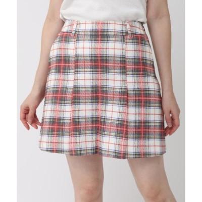 スカート 《ZOY》チェックタックプリーツスカート
