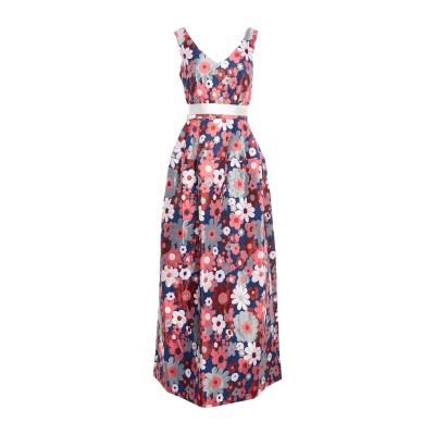 LANACAPRINA ロングワンピース&ドレス コーラル 44 ポリエステル 76% / コットン 24% ロングワンピース&ドレス