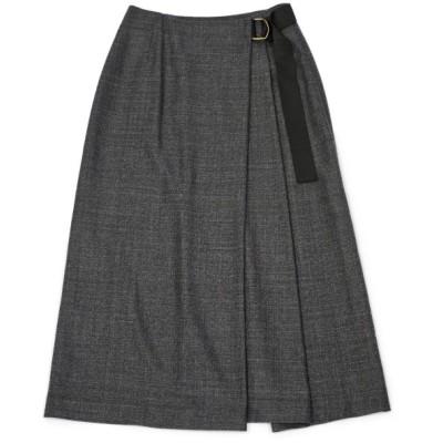 INCOTEX【インコテックス】ツイードスカート DULCEA J1221 930 ウール グレー