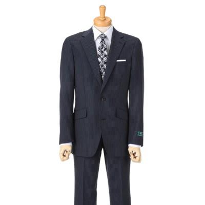 [紳士スーツスペシャル]ドールオム 細めのチョークストライプスーツはすっきりとしたイメージに写ります 1651001-B ブルー HM1
