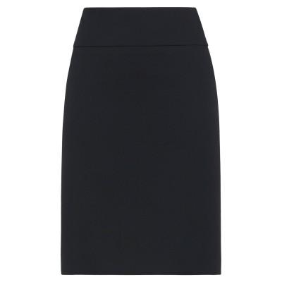 ペゼリコ PESERICO ひざ丈スカート ブラック 44 コットン 99% / ポリウレタン 1% ひざ丈スカート