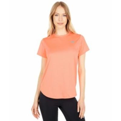 ニューバランス レディース シャツ トップス Accelerate Short Sleeve Paradise Pink