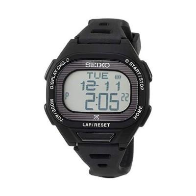 [セイコーウォッチ] 腕時計 プロスペックス Super Runners ソーラー 薄型ランナーズ デジタル (文字盤色-ブラック)