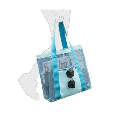 rayuso メッシュバック スパバッグ 温泉バッグ メッシュトート ビーチバッグ バス用品 小物収納 水着バッグ スイムバッグ 旅行用 プールバッグ