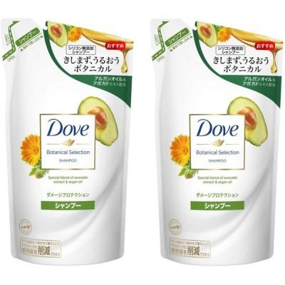 Dove(ダヴ) 【まとめ買い】 ボタニカルセレクション ダメージプロテクション シャンプー つめかえ2個 詰替え用 350g×2