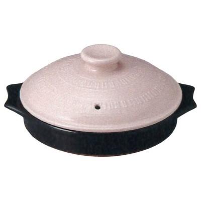 鍋 : 23-02261 萬古焼 直火・レンジ・オーブン対応 COTTO18Toban(桃) ひとり陶板 22x19x9cm 550cc S