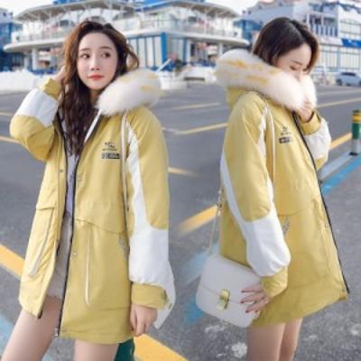 冬着 レディース コート コットンコート 中綿コート ショート丈 レディース 大きいサイズ 冬コート 着痩せ 個性的 フード付き 防風 おし