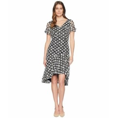Sangria サングリア ドレス 一般 Polka Dot Short Sleeve Lace Dress