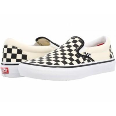 Vans バンズ メンズ 男性用 シューズ 靴 スニーカー 運動靴 Skate Slip-On (Checkerboard) Black/Off-White【送料無料】