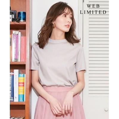J.PRESS/ジェイプレス 【WEB限定】コットンリブスムース スタンドネックTシャツ [WEB限定]グレージュ系 M