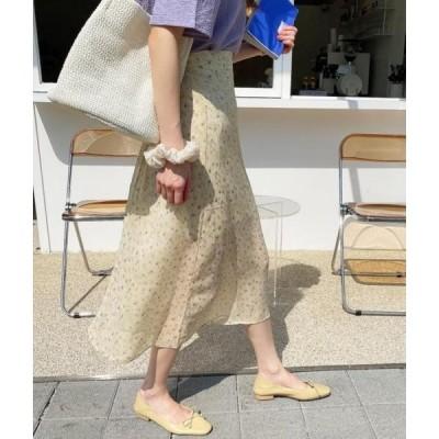monodaily レディース スカート Cherry Blossom Chiffon Skirt