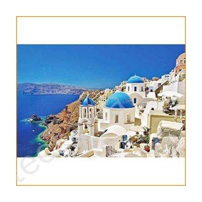 ジグソーパズル Aliturtle 1000 Piece Jigsaw Puzzles for Adults and Skilled Kids Age 12+, Bright Color Greece & Aegean Sea Santorini La