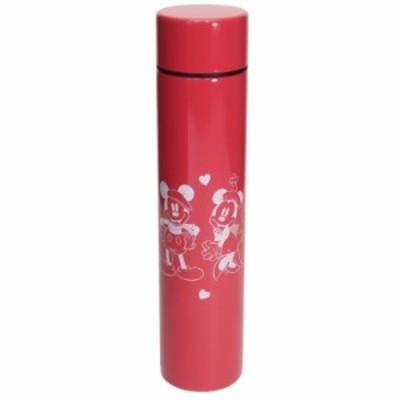 ミッキー&ミニー ミニ 保温 保冷 水筒 ロング ポケットステンレスボトル レッド D-MF56 ディズニー キャラクター グッズ