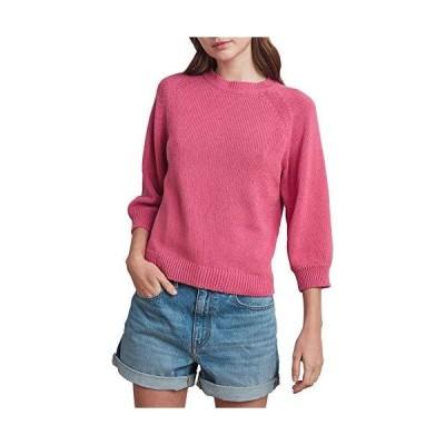 Velvet by Graham & Spencer Women's Cotton Sweater, Rose, L並行輸入品 送料無料