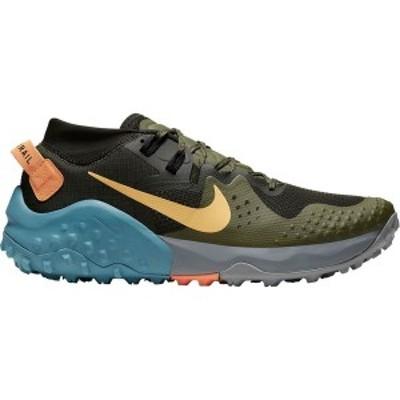 ナイキ メンズ スニーカー シューズ Wildhorse 6 Trail Running Shoe Sequoia/Topaz Gold-Medium Olive-Cerulean