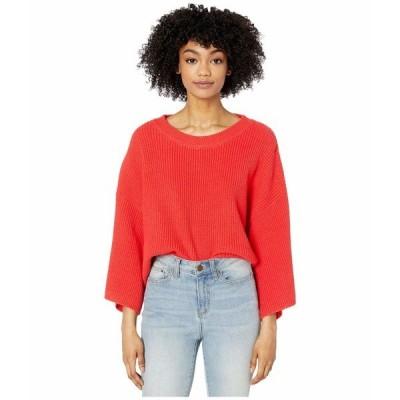 ビービーダコタ ニット&セーター アウター レディース Oversized Rib Knit Sweater Coral