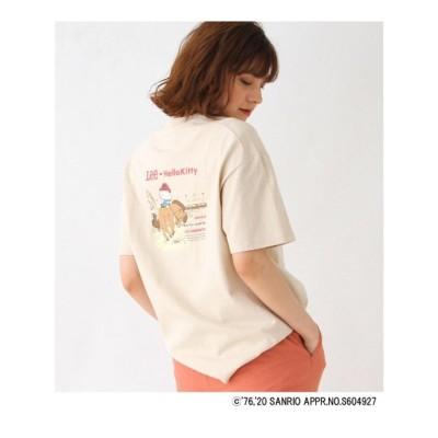 グローブ grove Lee(R)×Kitty バックプリントTシャツ (ベージュ)