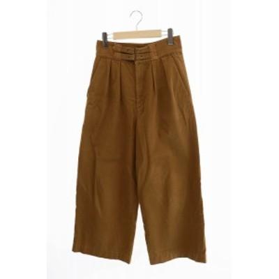 【中古】nowos ノーウォス 18AW organic cotton chino pants チノ ワイド パンツ M 茶 ● 201207 0045
