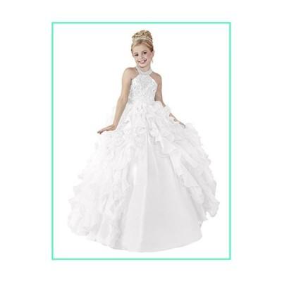 Wenli Flower Girls 2018 Floor Length Wedding Party Dresses 6 US White並行輸入品
