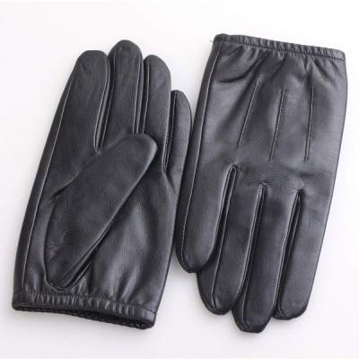 MINIBA 手袋 メンズ ビジネス 出張 柔らかい羊革レザー グローブ 五本指 裏起毛 厚手 冬 暖かい アウトドア ウインターグローブ