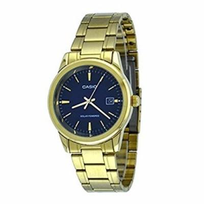 腕時計 カシオ メンズ Casio MTP-VS01G-2A Men's Solar Gold Tone Stainless Steel Blue Dial Date Watch