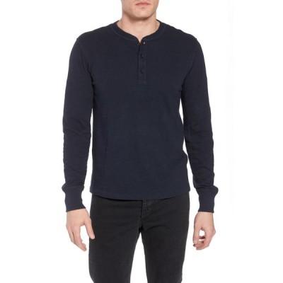 ラグ&ボーン RAG & BONE メンズ Tシャツ ヘンリーシャツ トップス Classic Slim Fit Henley Deep Navy