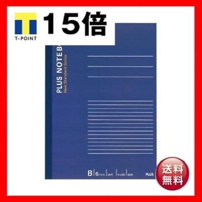 (まとめ) プラス ノートブック セミB5B罫6mm 30枚 ネイビー NO-003BS 1冊 〔×100セット〕