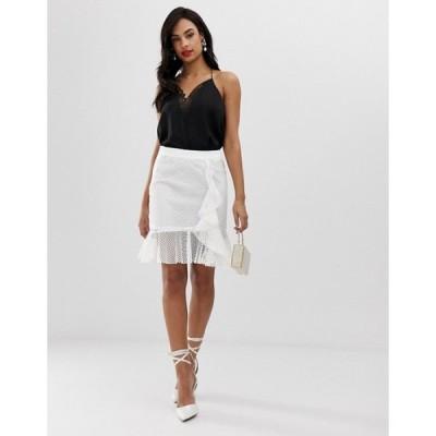 リクオリッシュ レディース スカート ボトムス Liquorish lace overlay mini skirt