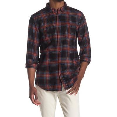 イズキール メンズ シャツ トップス Landers Plaid Regular Fit Shirt BLACK