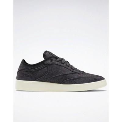 リーボック メンズ スニーカー シューズ Reebok Club C wool sneakers in black