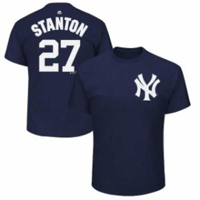 Majestic マジェスティック スポーツ用品  Majestic Giancarlo Stanton New York Yankees Youth Navy Name & Number T-Shi