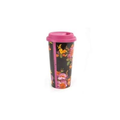 MacKenzie-Childs Black Flower Market Travel Cup並行輸入品
