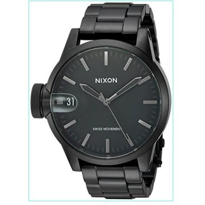 Nixon Men's A4411420 Chronicle 44 Analog Display Swiss Quartz Black Watch【並行輸入品】