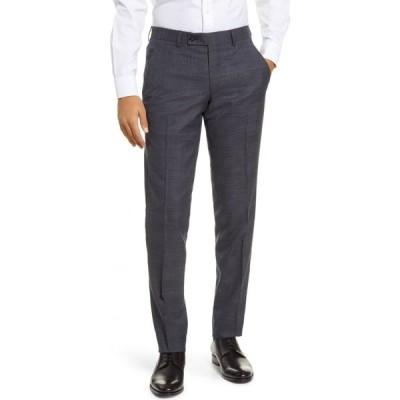 テッドベーカー TED BAKER LONDON メンズ スラックス ボトムス・パンツ Jerome Flat Front Plaid Wool Dress Pants Blue