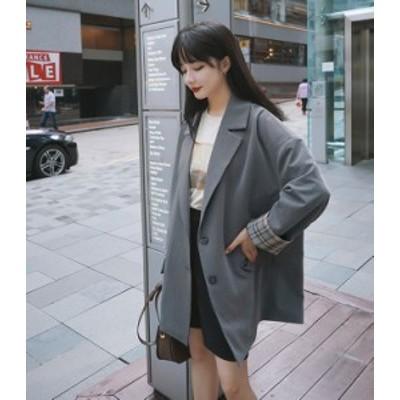 レディース ジャケット アウター 長袖 きちんと 通勤 OL オフィス きれいめ カジュアル ゆったり 大人可愛い 韓国ファッション