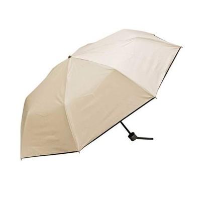 makez. マケズ 日傘 折りたたみ 完全遮光 遮光率100% 軽量 遮光 晴雨兼用 UVカット JT0F8965 ベージュ