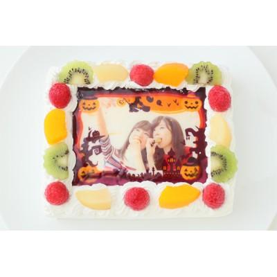 ハロウィン2021 ハローウィンデコレーション写真ケーキ 4号 12cm