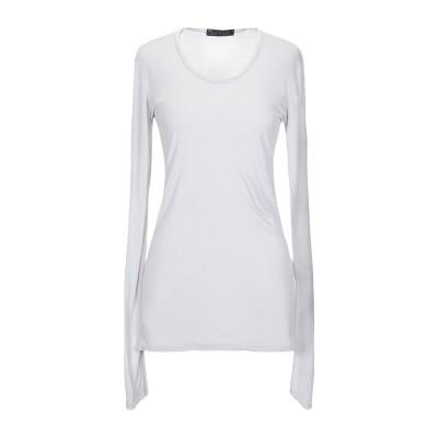 SATÌNE T シャツ ライトグレー 42 レーヨン 100% T シャツ
