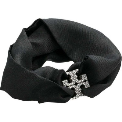 トリー バーチ Tory Burch レディース ブレスレット ラップブレス ジュエリー・アクセサリー Kira Pave Scarf Wrap Bracelet Silver/Crystal/Black
