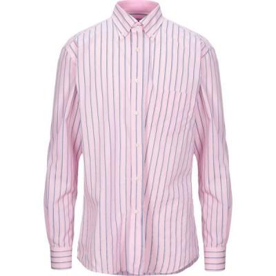 ミルト MIRTO メンズ シャツ トップス Striped Shirt Pink