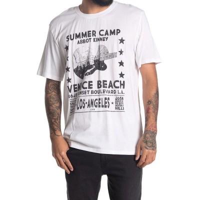ザディグ エ ヴォルテール メンズ Tシャツ トップス Tobias Summer Camp Graphic T-Shirt BLANC