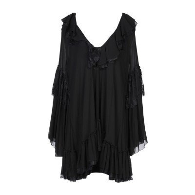 REDEMPTION ミニワンピース&ドレス ブラック 42 シルク 100% / ナイロン ミニワンピース&ドレス