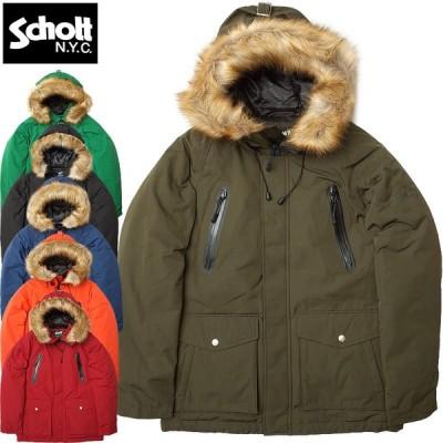 セール Schott #3172024 シュノーケル フード ダウン パーカー 返品・交換不可【TKA】