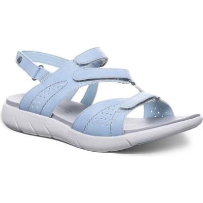 ベアパウ BEARPAW レディース サンダル・ミュール フラット シューズ・靴 Reed Flat Sandals Blue Fog