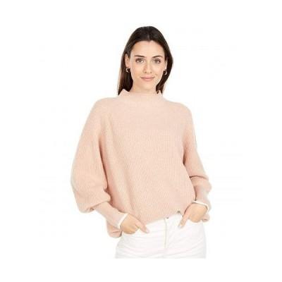 Lilla P リラP レディース 女性用 ファッション セーター Oversized Funnel Neck Sweater - Pink Sand