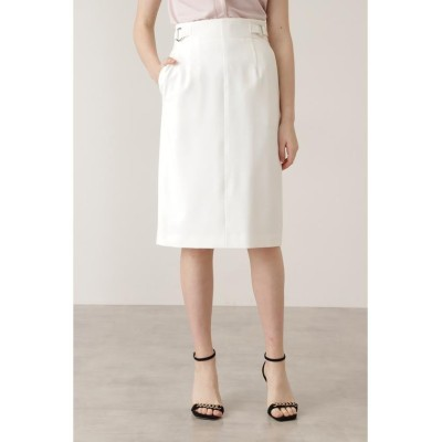 【ピンキーアンドダイアン】 ダブルリングタイトスカート レディース ホワイト 36 PINKY&DIANNE