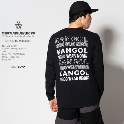 40%OFF VIRGO ヴァルゴ KANGOL×VIRGOwearworks BIG TAPE L/S ロンT19sa