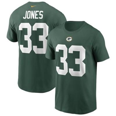 Aaron Jones グリーンベイ・パッカーズ Nike Name & Number T-シャツ - Green